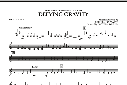 Defying Gravity (from Wicked) - Bb Clarinet 2 (Concert Band)