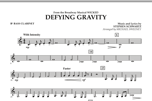 Defying Gravity (from Wicked) - Bb Bass Clarinet (Concert Band)