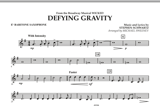 Defying Gravity (from Wicked) - Eb Baritone Saxophone (Concert Band)