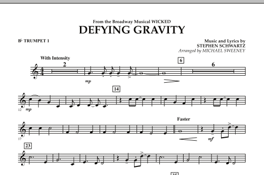 Defying Gravity (from Wicked) - Bb Trumpet 1 (Concert Band)