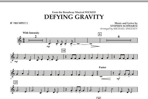 Defying Gravity (from Wicked) - Bb Trumpet 2 (Concert Band)