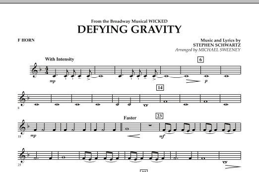 Defying Gravity (from Wicked) - F Horn (Concert Band)