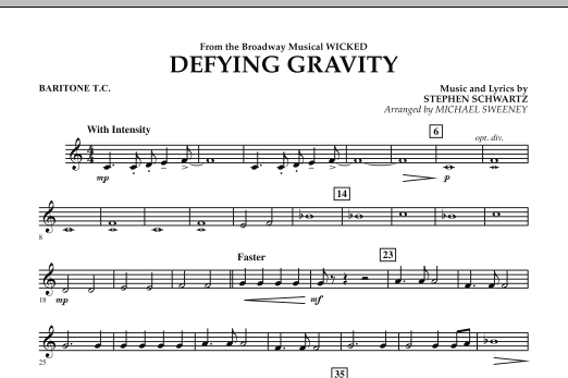 Defying Gravity (from Wicked) - Baritone T.C. (Concert Band)