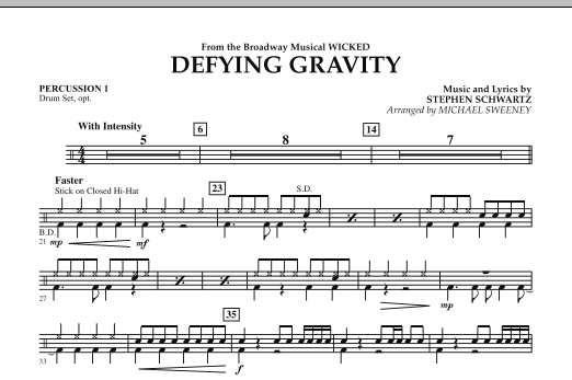 Defying Gravity (from Wicked) - Percussion 1 (Concert Band)