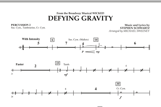 Defying Gravity (from Wicked) - Percussion 2 (Concert Band)