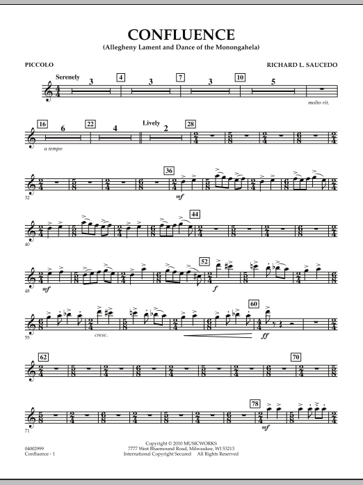 Confluence - Piccolo (Concert Band)