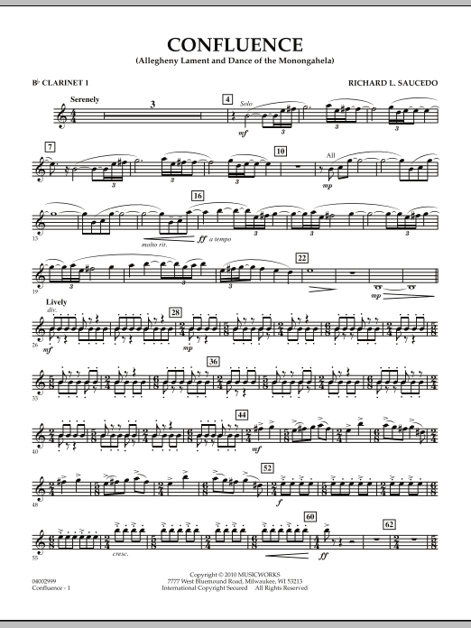 Confluence - Bb Clarinet 1 (Concert Band)