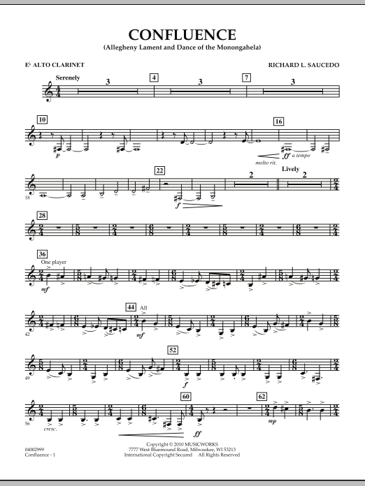 Confluence - Eb Alto Clarinet (Concert Band)