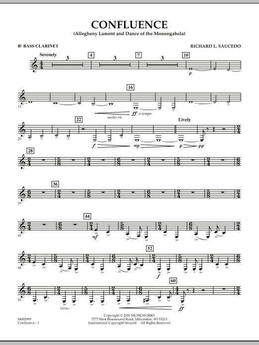 Confluence - Bb Bass Clarinet (Concert Band)