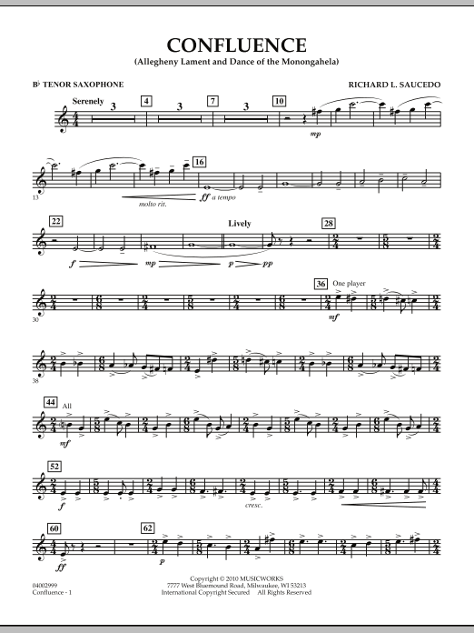 Confluence - Bb Tenor Saxophone (Concert Band)