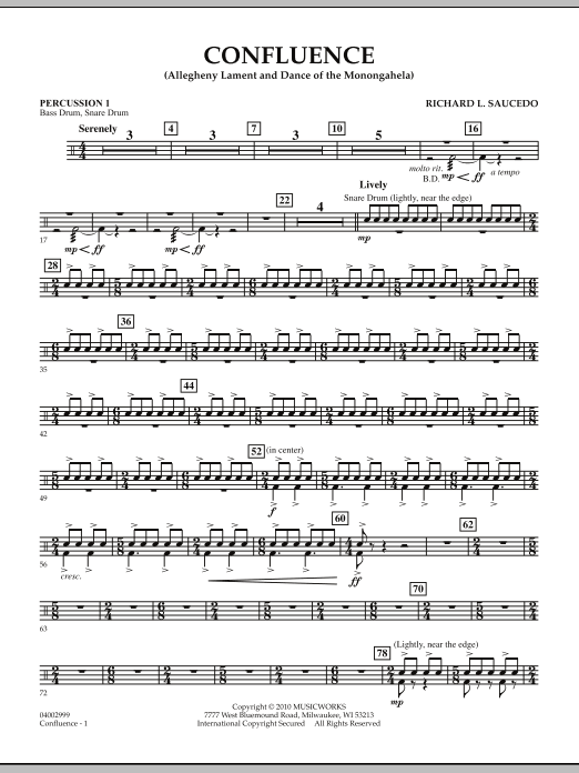 Confluence - Percussion 1 (Concert Band)