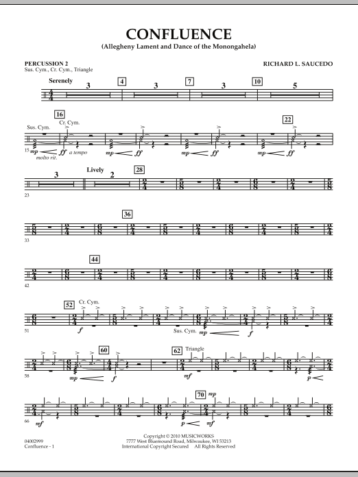 Confluence - Percussion 2 (Concert Band)
