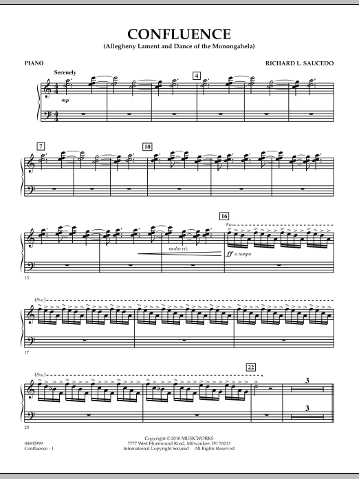 Confluence - Piano (Concert Band)