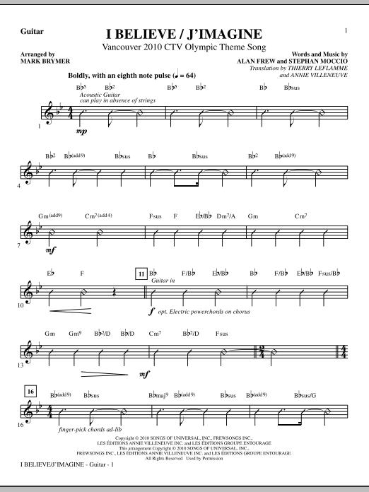 I Believe / J'Imagine - Guitar (Choir Instrumental Pak)