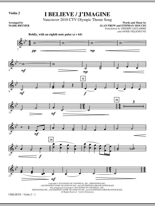 I Believe / J'Imagine - Violin 2 (Choir Instrumental Pak)
