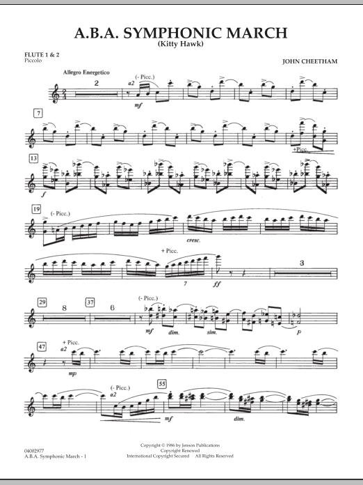 A.B.A. Symphonic March (Kitty Hawk) - Flute 1 & 2 (Piccolo) (Concert Band)