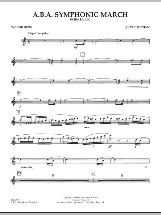 A.B.A. Symphonic March (Kitty Hawk) - English Horn (Concert Band)