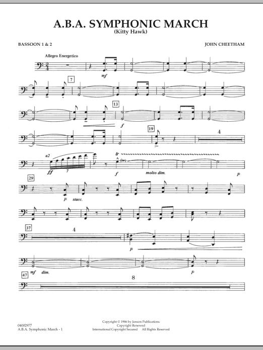 A.B.A. Symphonic March (Kitty Hawk) - Bassoon 1 & 2 (Concert Band)
