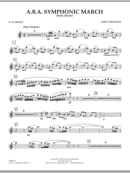 A.B.A. Symphonic March (Kitty Hawk) - Eb Clarinet (Concert Band)