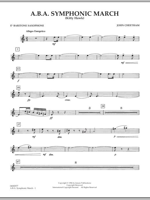 A.B.A. Symphonic March (Kitty Hawk) - Eb Baritone Saxophone (Concert Band)
