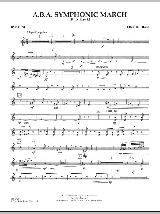 A.B.A. Symphonic March (Kitty Hawk) - Baritone T.C. (Concert Band)