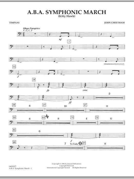 A.B.A. Symphonic March (Kitty Hawk) - Timpani (Concert Band)