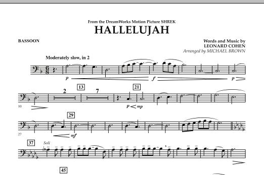 Hallelujah - Bassoon (Concert Band)