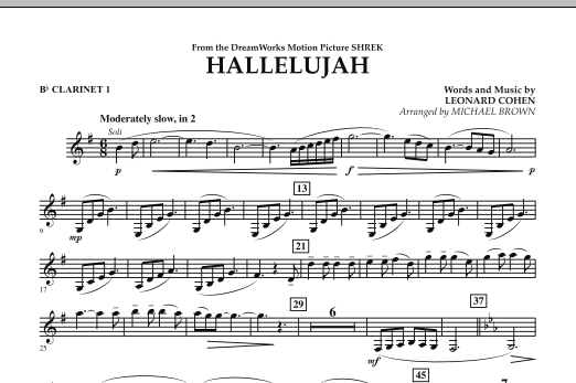 Hallelujah - Bb Clarinet 1 (Concert Band)