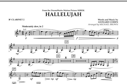 Hallelujah - Bb Clarinet 2 (Concert Band)