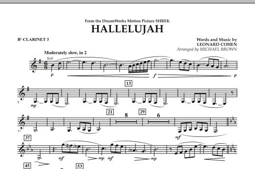 Hallelujah - Bb Clarinet 3 (Concert Band)