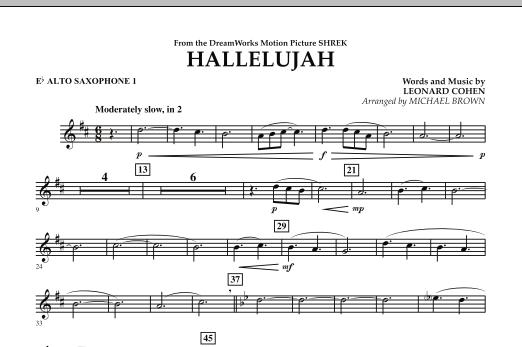 Hallelujah - Eb Alto Saxophone 1 (Concert Band)