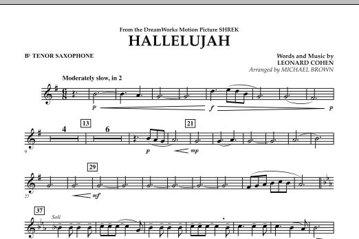Hallelujah - Bb Tenor Saxophone (Concert Band)