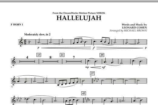 Hallelujah - F Horn 1 (Concert Band)