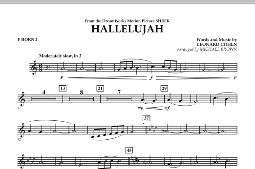 Hallelujah - F Horn 2 (Concert Band)