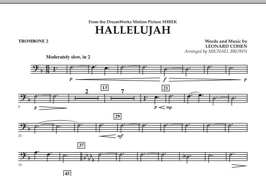 Hallelujah - Trombone 2 (Concert Band)