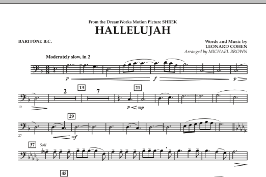 Hallelujah - Baritone B.C. (Concert Band)