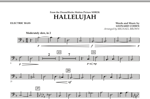 Hallelujah - Electric Bass (Concert Band)