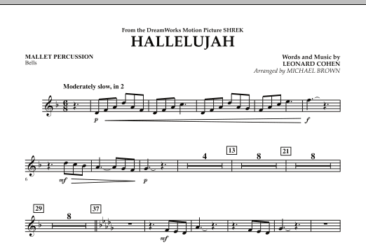 Hallelujah - Mallet Percussion (Concert Band)