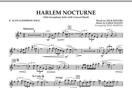 Harlem Nocturne (Alto Sax Solo with Band) - Eb Alto Saxophone Solo (Concert Band)