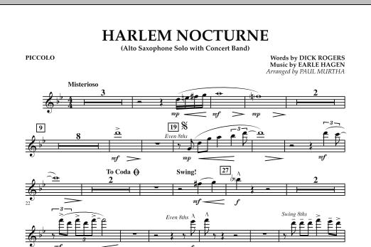 Harlem Nocturne (Alto Sax Solo with Band) - Piccolo (Concert Band)