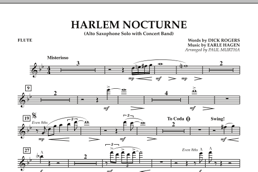 Harlem Nocturne (Alto Sax Solo with Band) - Flute (Concert Band)
