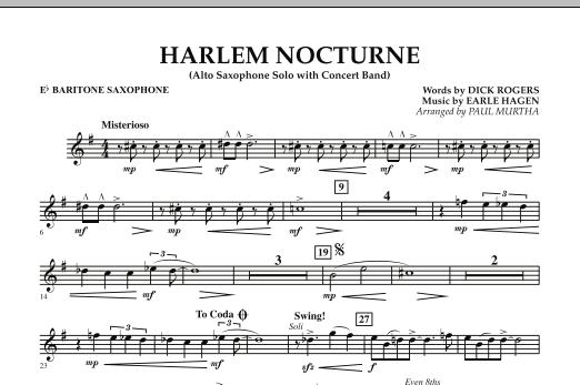 Harlem Nocturne (Alto Sax Solo with Band) - Eb Baritone Saxophone (Concert Band)