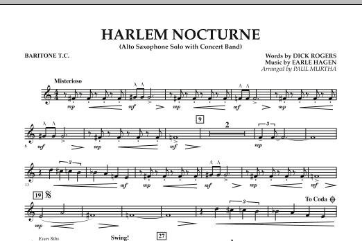 Harlem Nocturne (Alto Sax Solo with Band) - Baritone T.C. (Concert Band)