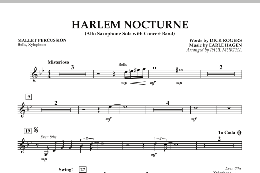 Harlem Nocturne (Alto Sax Solo with Band) - Mallet Percussion (Concert Band)