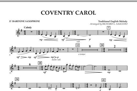 Coventry Carol - Eb Baritone Saxophone (Concert Band)