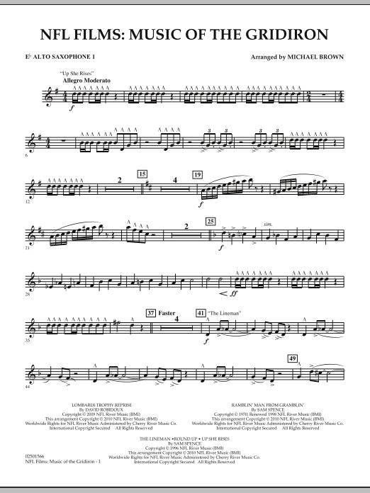 NFL Films: Music Of The Gridiron - Eb Alto Saxophone 1 (Concert Band)