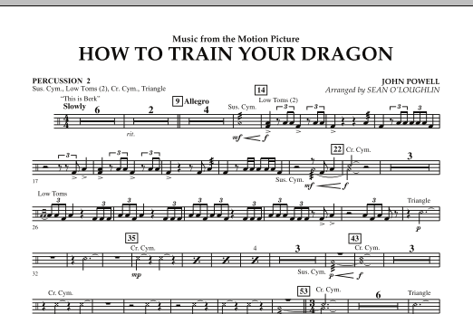 Music from How To Train Your Dragon - Percussion 2 (Concert Band)