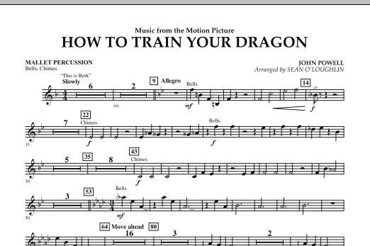 Music from How To Train Your Dragon - Mallet Percussion (Concert Band)