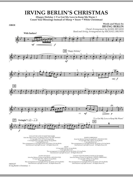 Irving Berlin's Christmas (Medley) - Oboe (Concert Band)