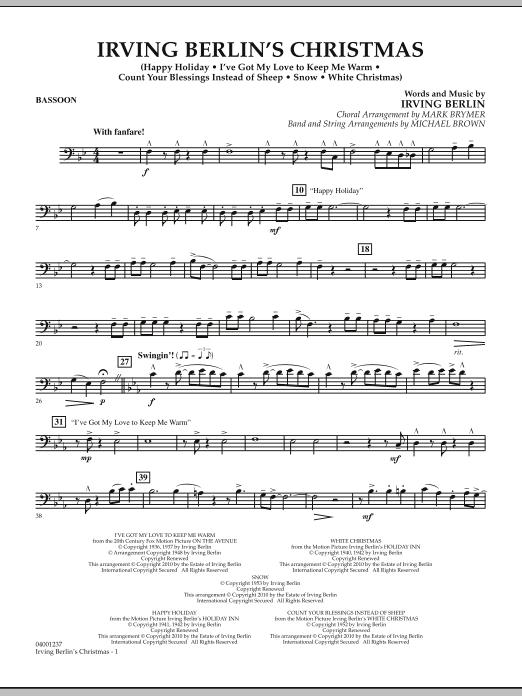 Irving Berlin's Christmas (Medley) - Bassoon (Concert Band)